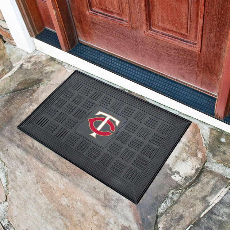Minnesota Twins MEDALLION Vinyl Door Mat