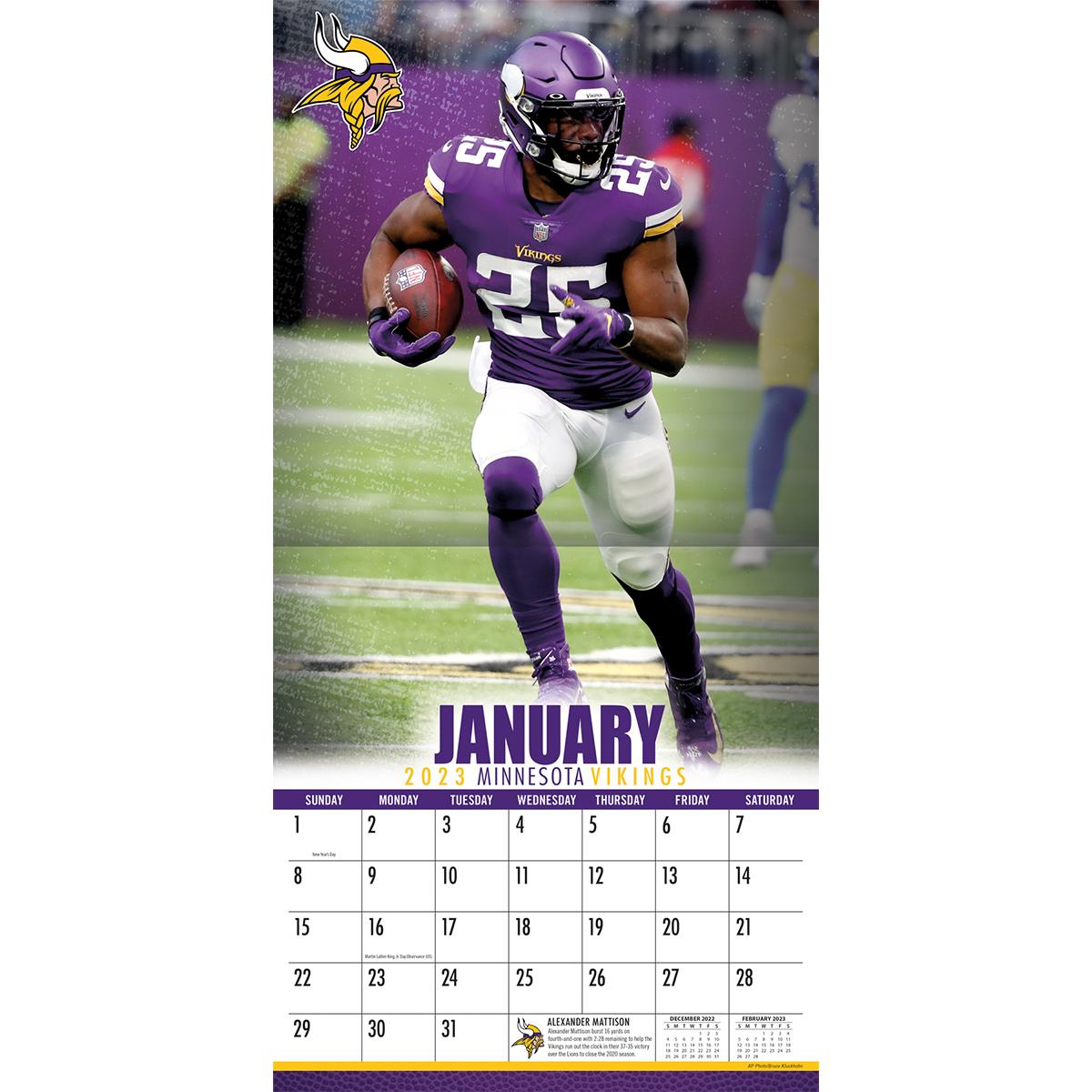 Minnesota Vikings 2019 NFL Mini Wall Calendar - Buy at KHC ...