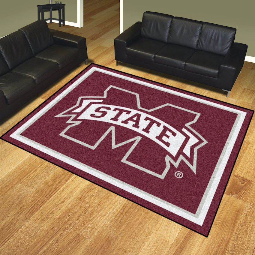 Mississippi State Bulldogs Ultra Plush 8x10 Area Rug