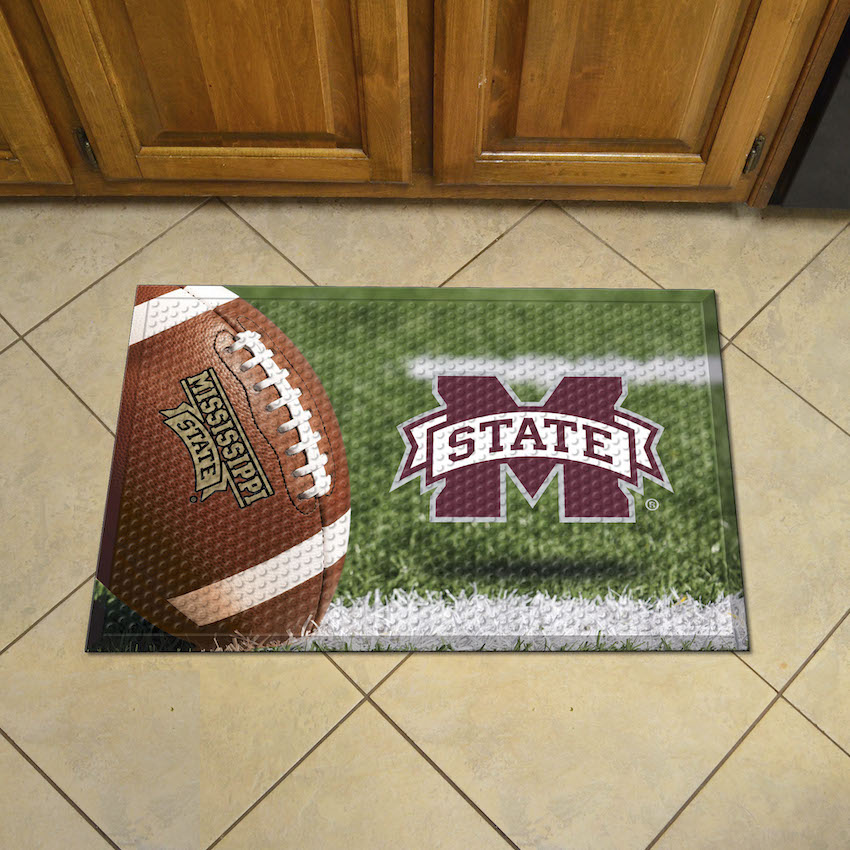 Mississippi State Bulldogs Ball Style SCRAPER Door Mat