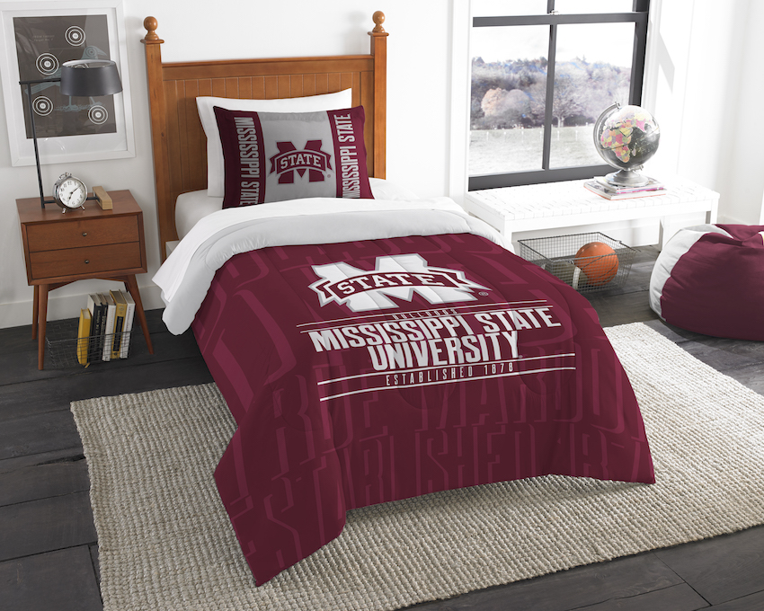 Mississippi State Bulldogs Twin Comforter Set with Sham