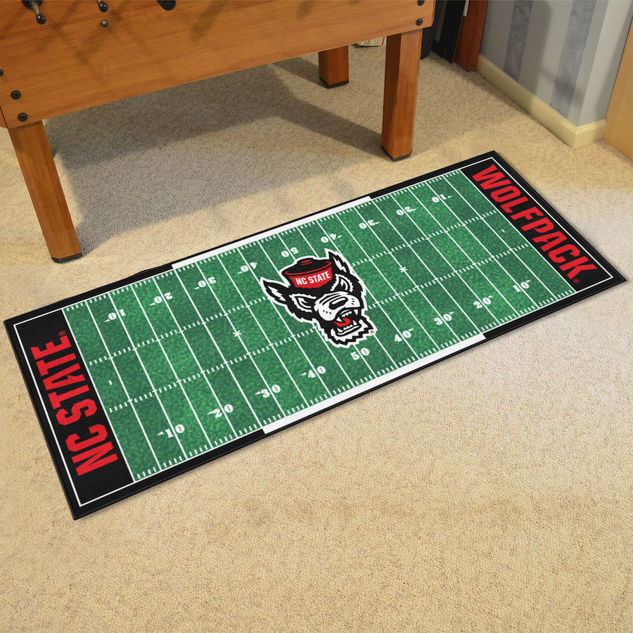 NC State WOLFPACK Logo Football Field Runner 30 X 72 Floor