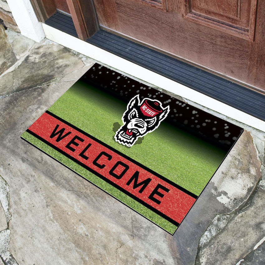 NC State Wolfpack Recycled Crumb Rubber Door Mat
