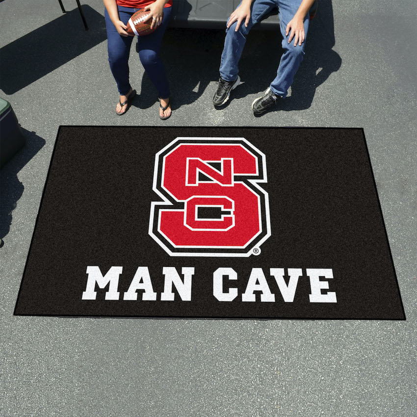 NC State Wolfpack UTILI-MAT 60 x 96 MAN CAVE Rug