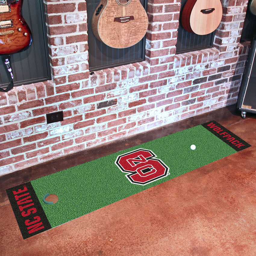 NC State Wolfpack Putting Green Mat 18 x 72