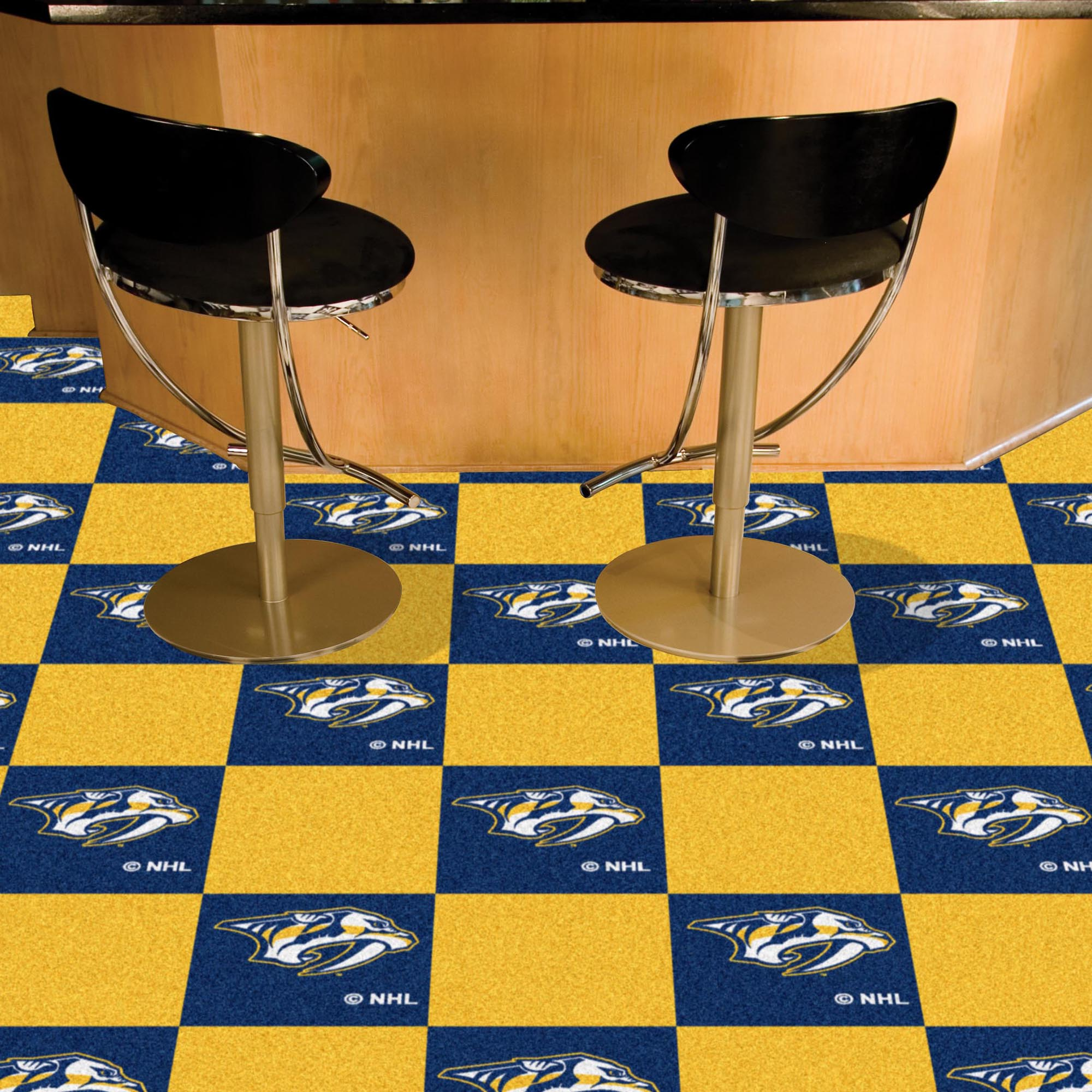 Nashville Predators Carpet Tiles 18x18 in.