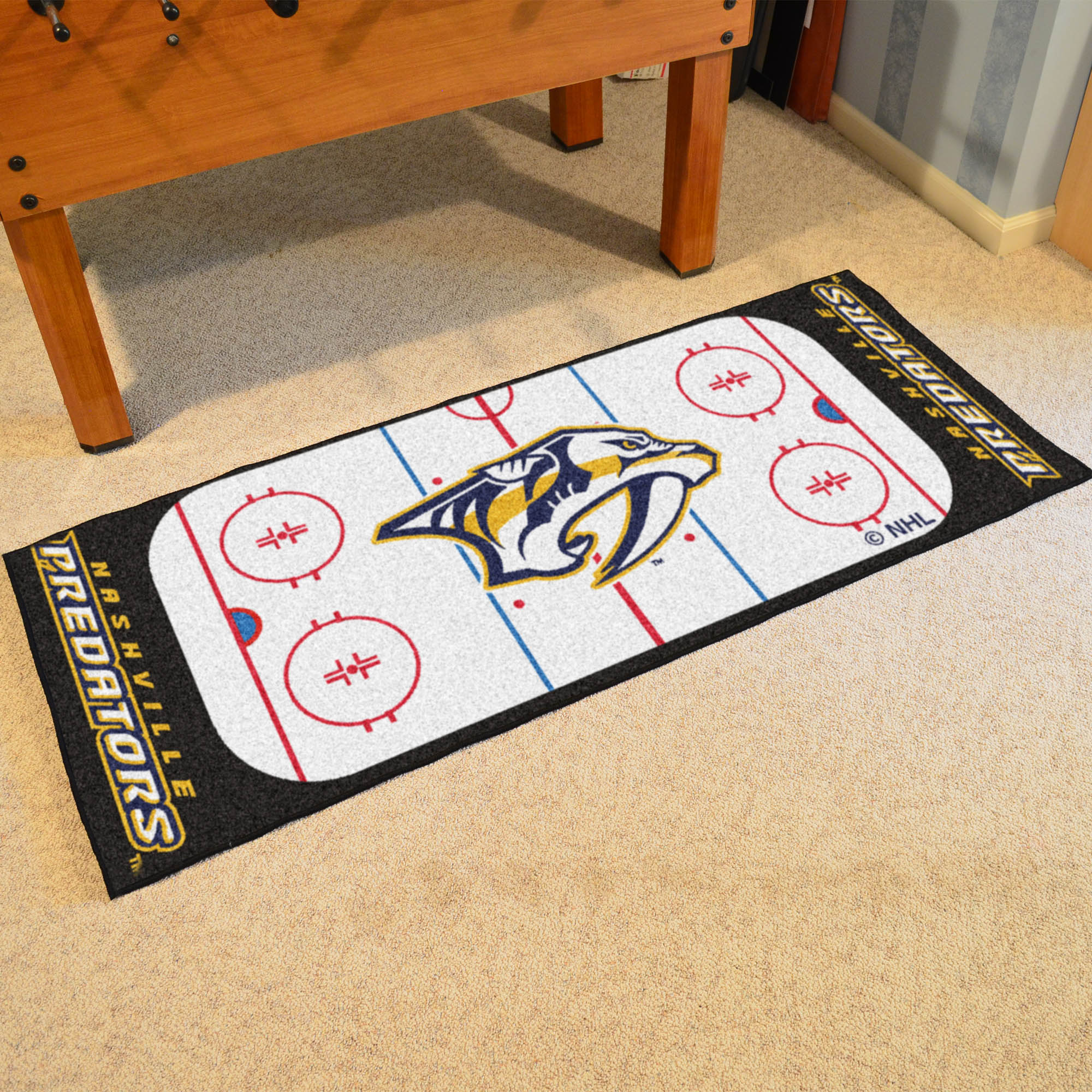 Nashville Predators 30 x 72 Hockey Rink Carpet Runner
