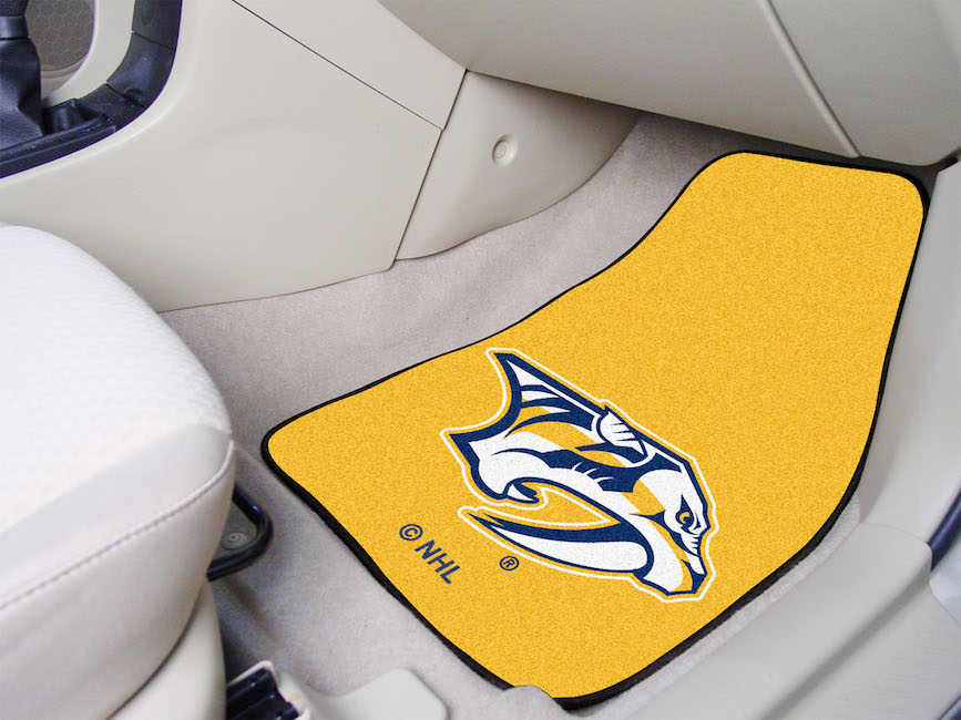 Nashville Predators ~ LOGO ~ Car Floor Mats 18 x 27 Carpeted-Pair