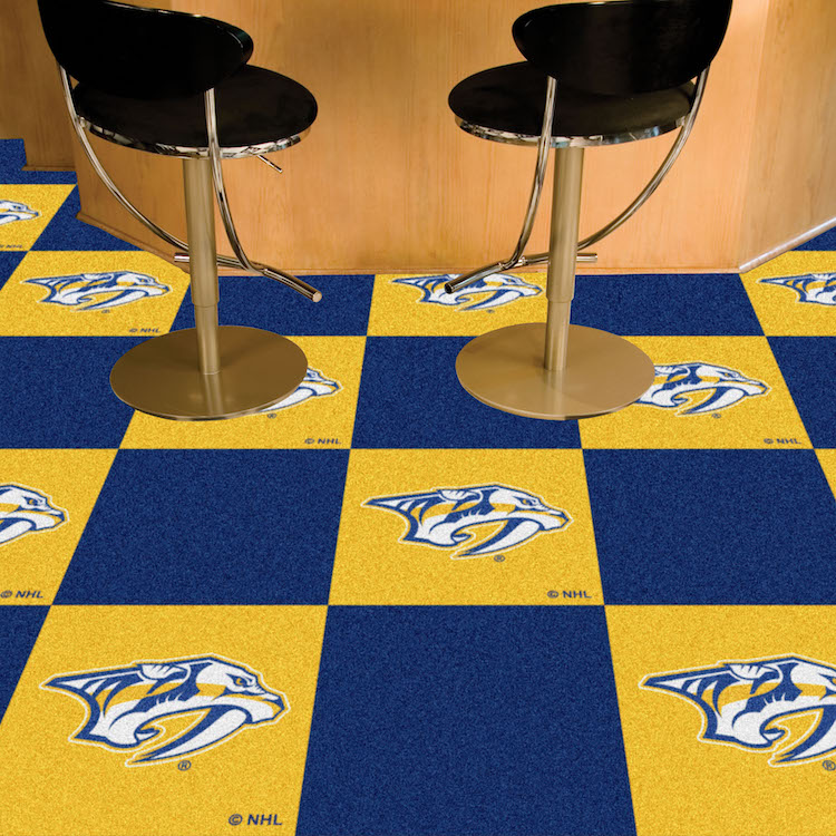 Nashville Predators ~ LOGO ~ Carpet Tiles 18x18 in.