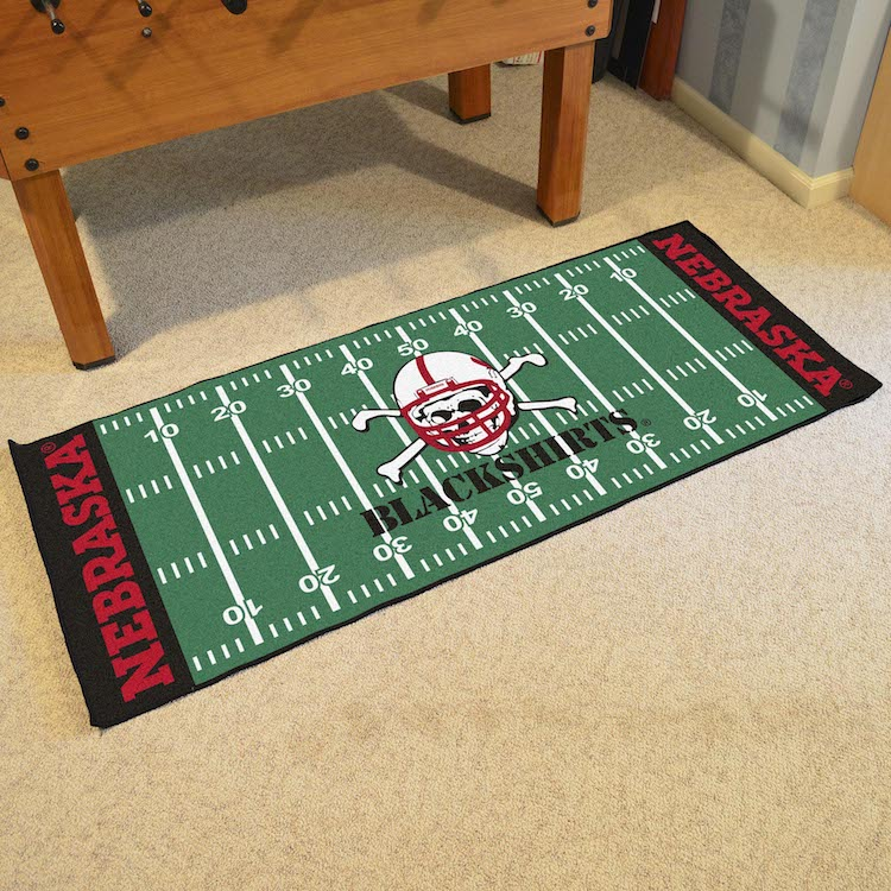 Nebraska Cornhuskers Football Field Runner 30 X 72 Floor