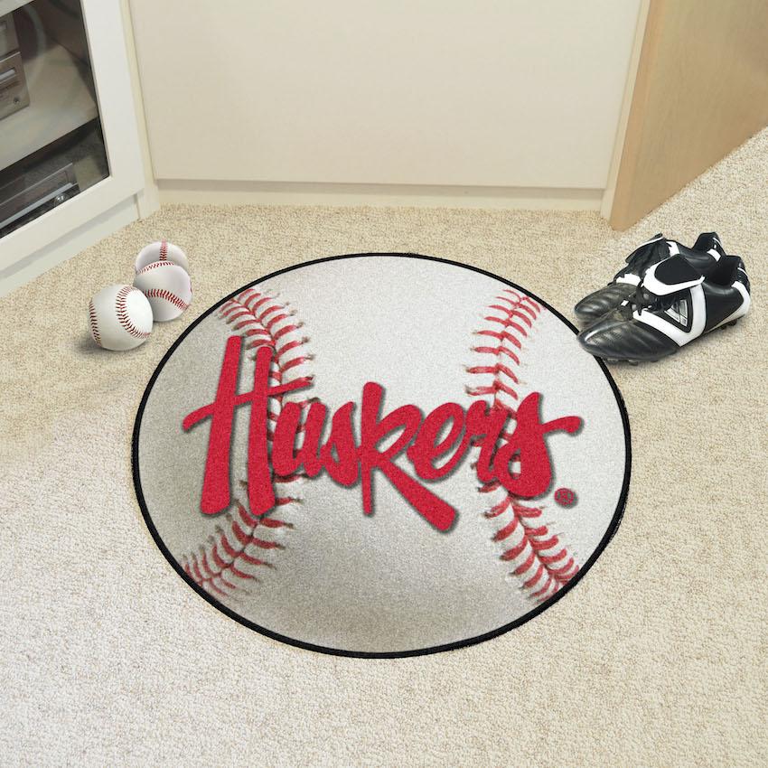 Nebraska Huskers Baseball Floor Mat