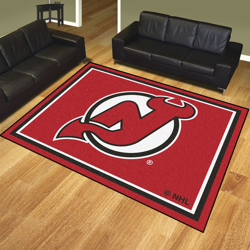 New Jersey Devils Ultra Plush 8x10 Area Rug