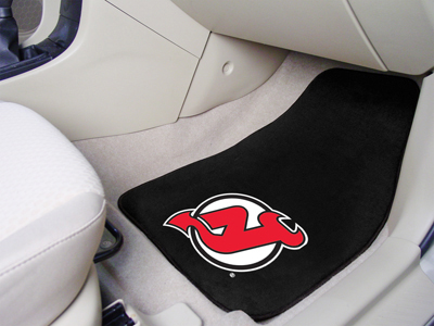 New Jersey Devils Car Floor Mats 18 x 27 Carpeted-Pair