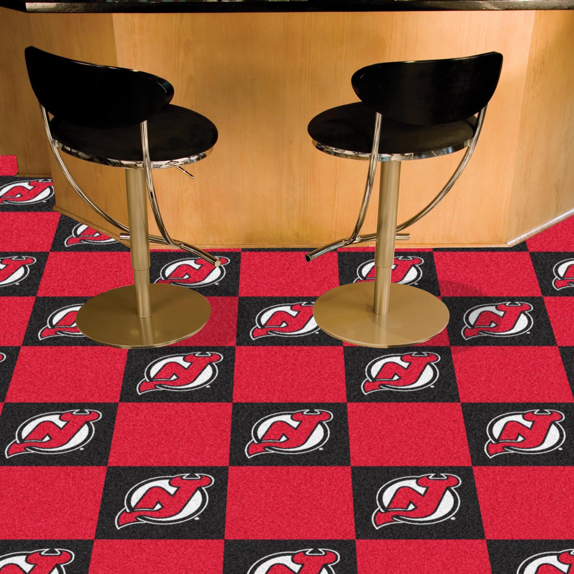 New Jersey Devils Carpet Tiles 18x18 in.