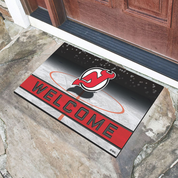 New Jersey Devils Recycled Crumb Rubber Door Mat