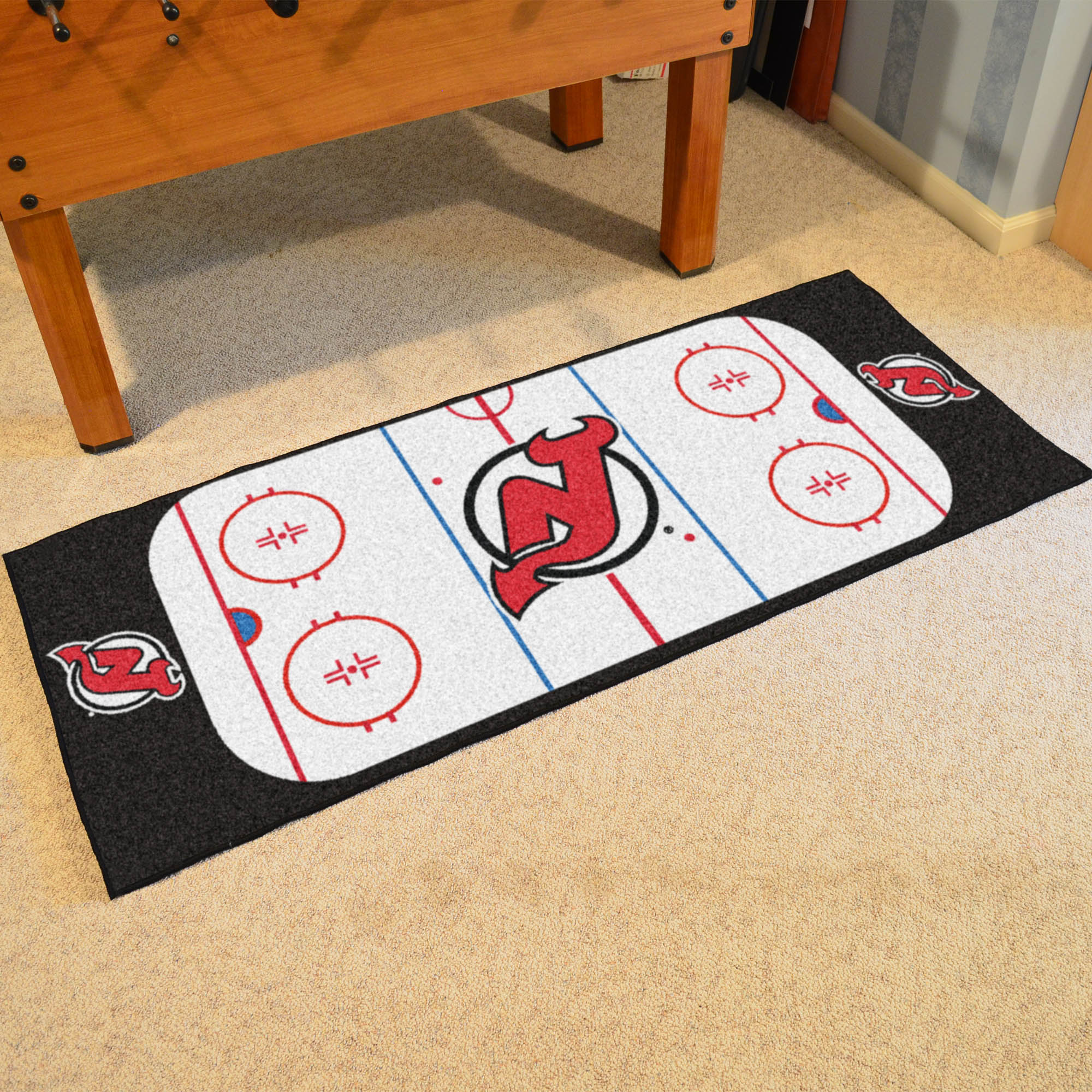 New Jersey Devils 30 x 72 Hockey Rink Carpet Runner