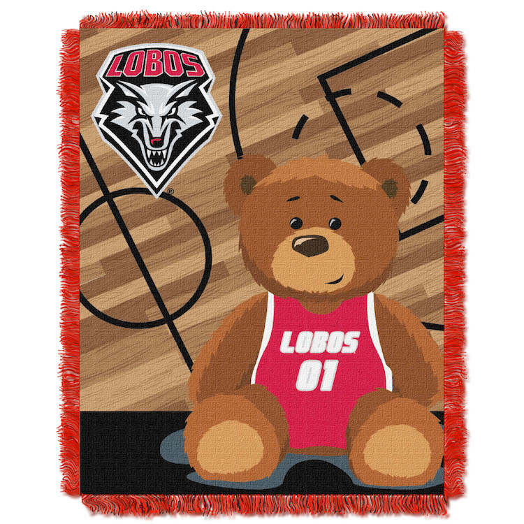 New Mexico Lobos Woven Baby Blanket 36 x 48