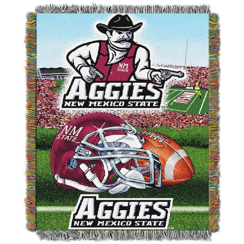 New Mexico State Aggies Home Field Advantage Series Tapestry Blanket 48 x 60