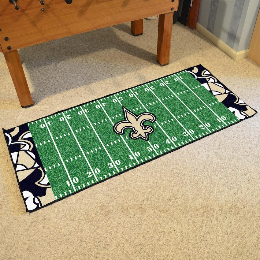 New Orleans Saints 30 X 72 Quick Snap Football Field
