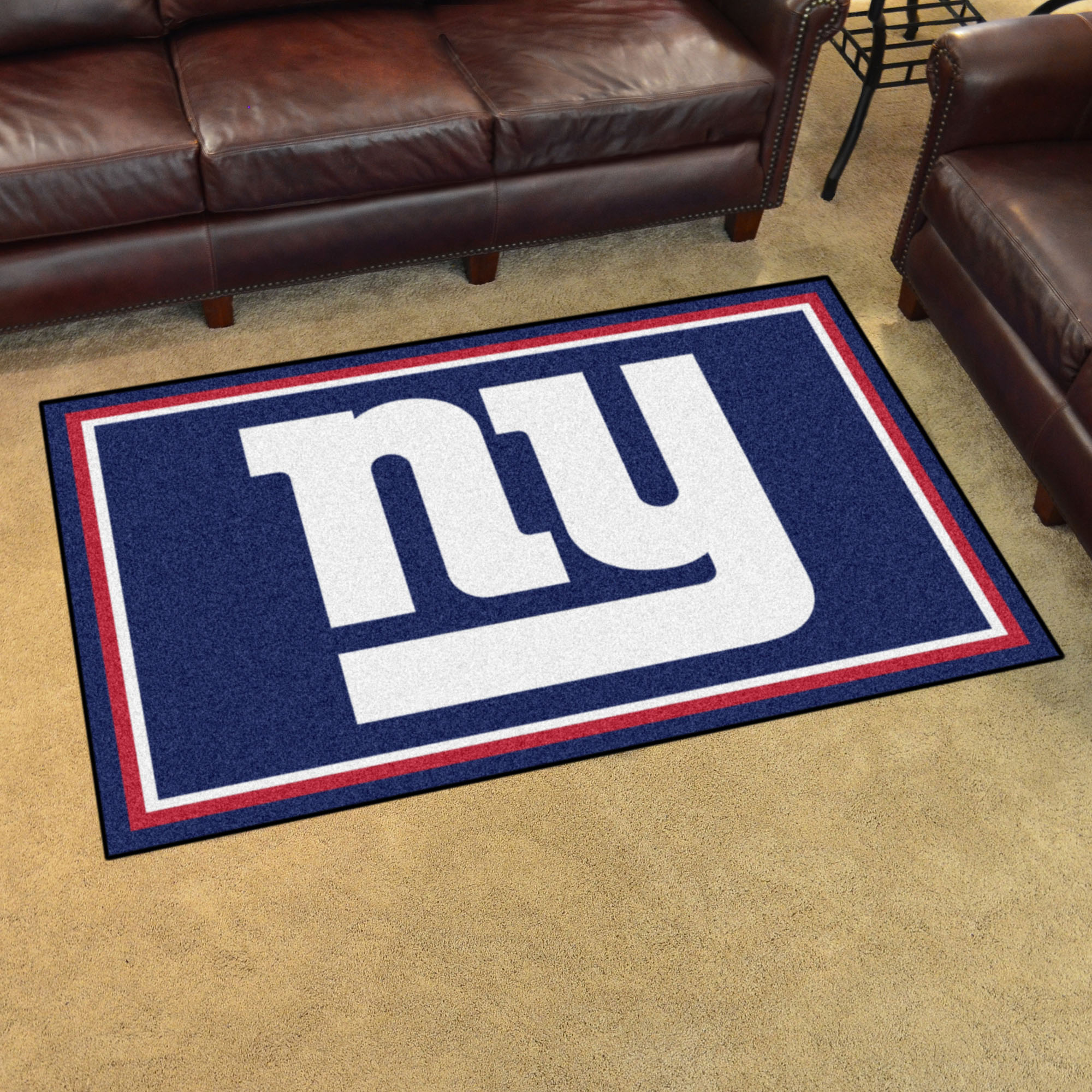 New york giants 4x6 area rug buy at khc sports for Area rugs new york