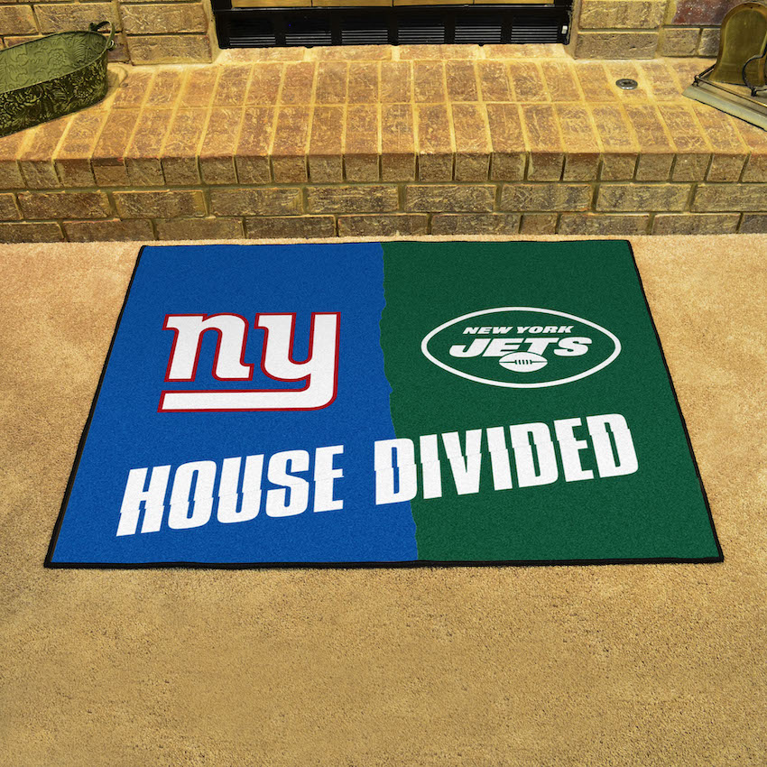 NFL House Divided Rivalry Rug New York Giants - New York Jets