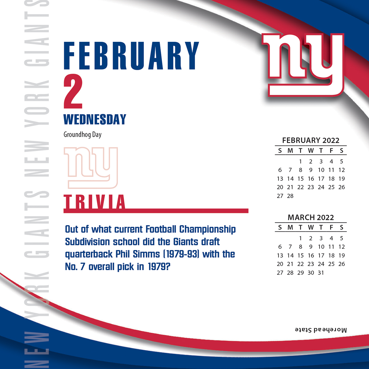 New York Giants 2018 Nfl Page A Day Box Calendar Buy At