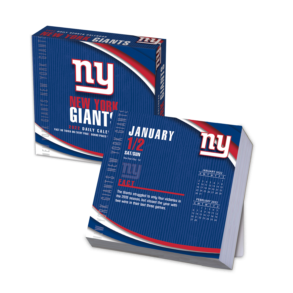 New York Giants 2019 NFL Page-A-Day Box Calendar