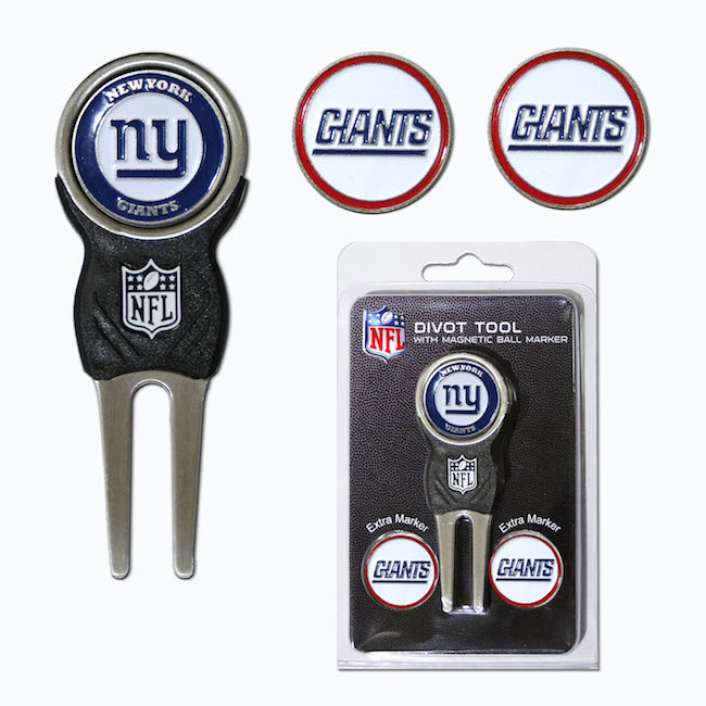New York Giants 3 Marker Signature Divot Tool Pack