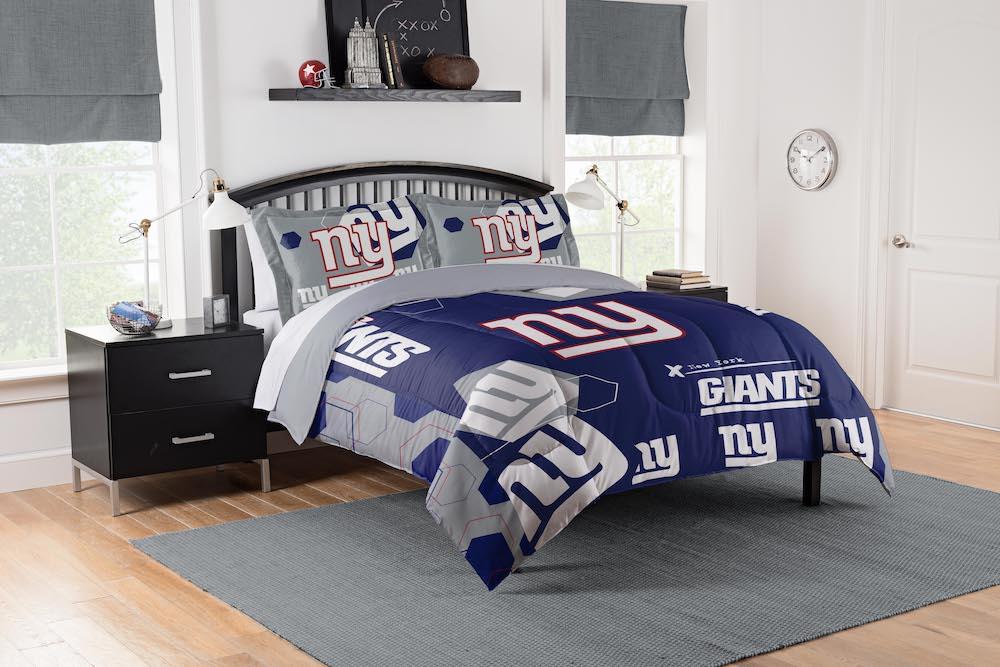 New York Giants King Size Comforter And 2 Shams Buy At