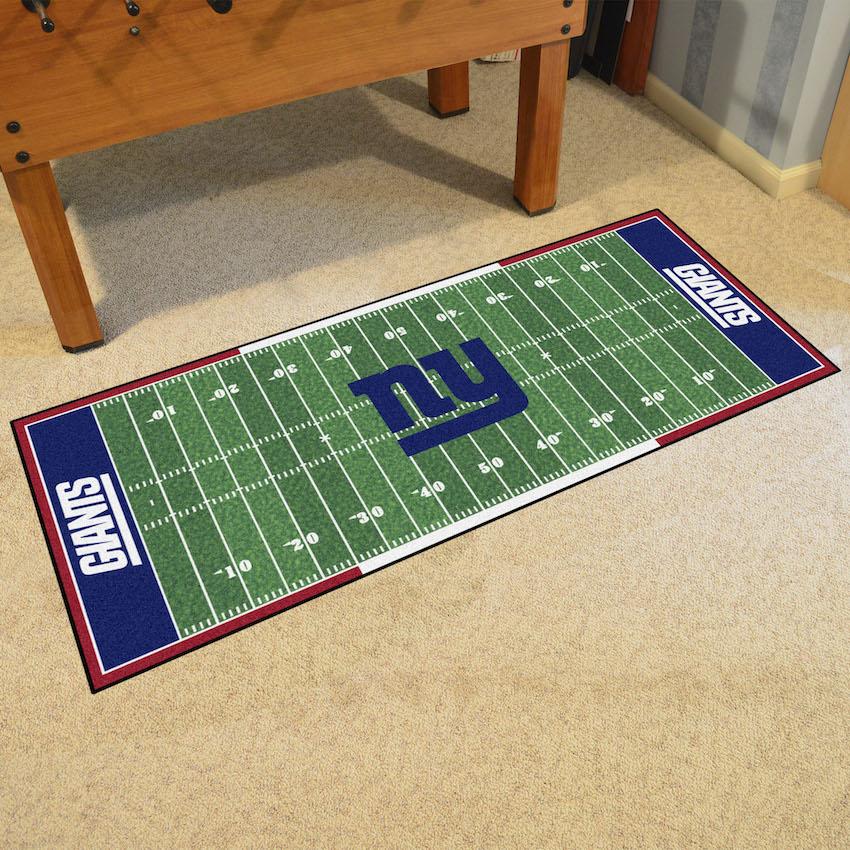 New York Giants Football Field Runner 30 X 72 Floor Mat