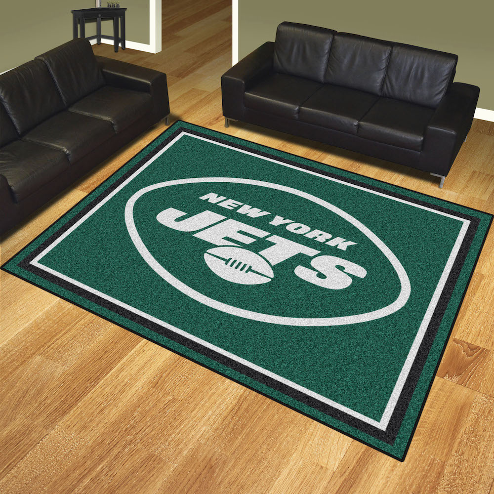 New York Jets Ultra Plush 8x10 Area Rug