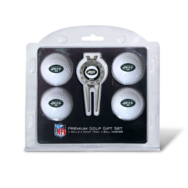 New York Jets 4 Golf Ball and Divot Tool Set