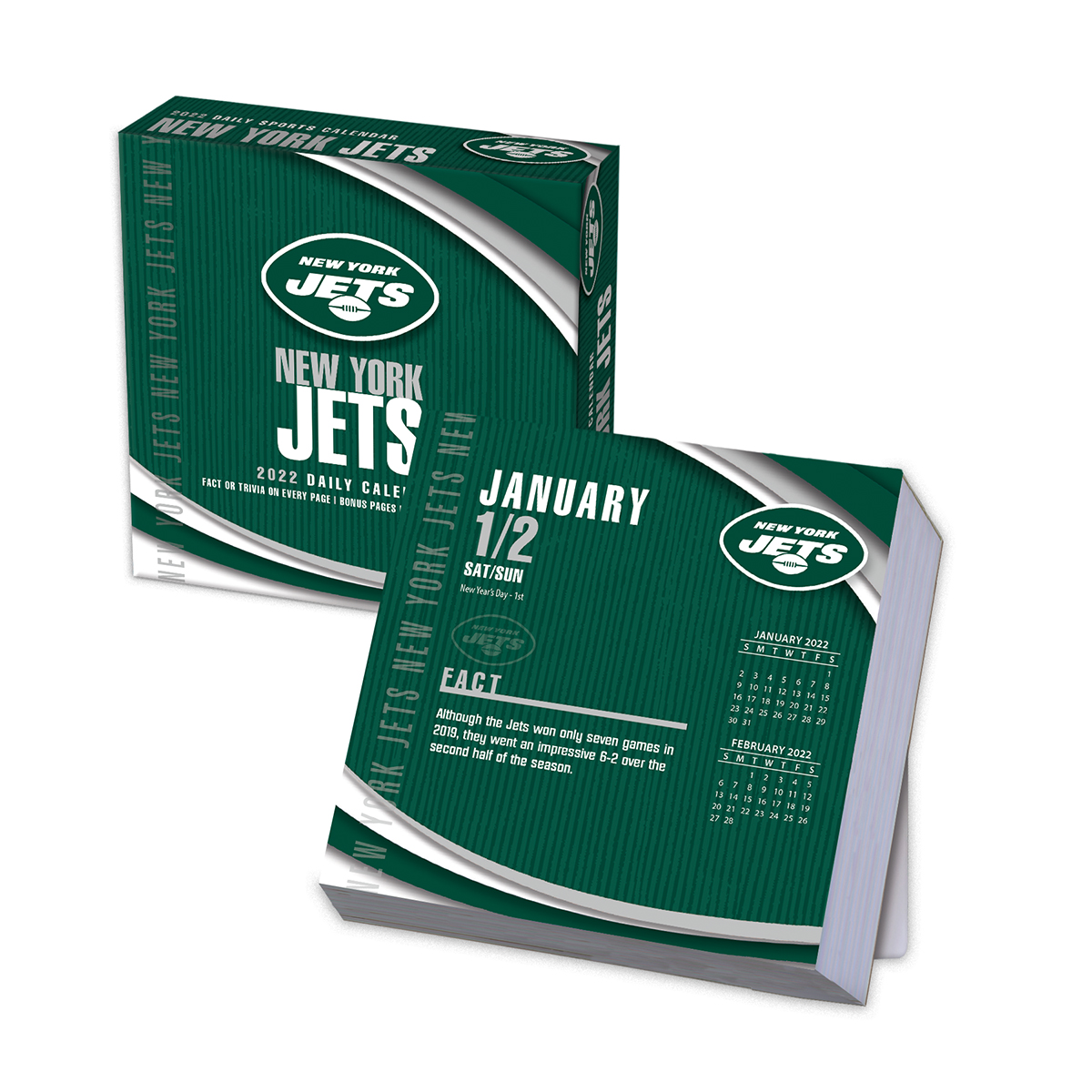 new york jets 2018 nfl page a day box calendar buy at khc sports