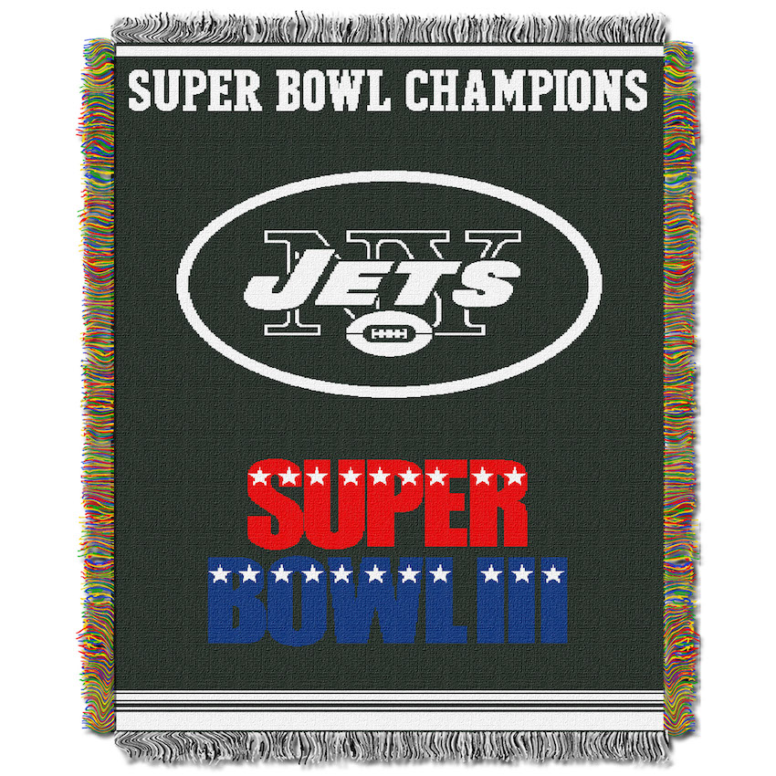New York Jets Commemorative Super Bowl Tapestry Throw