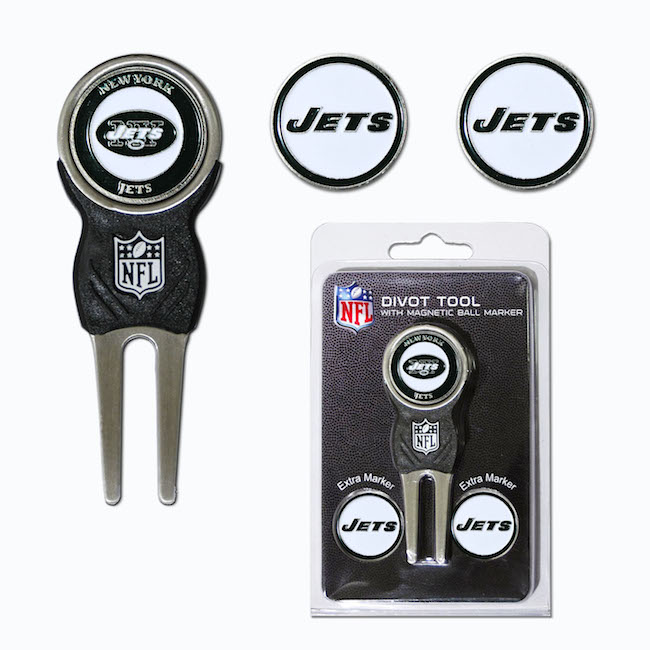 New York Jets 3 Marker Signature Divot Tool Pack