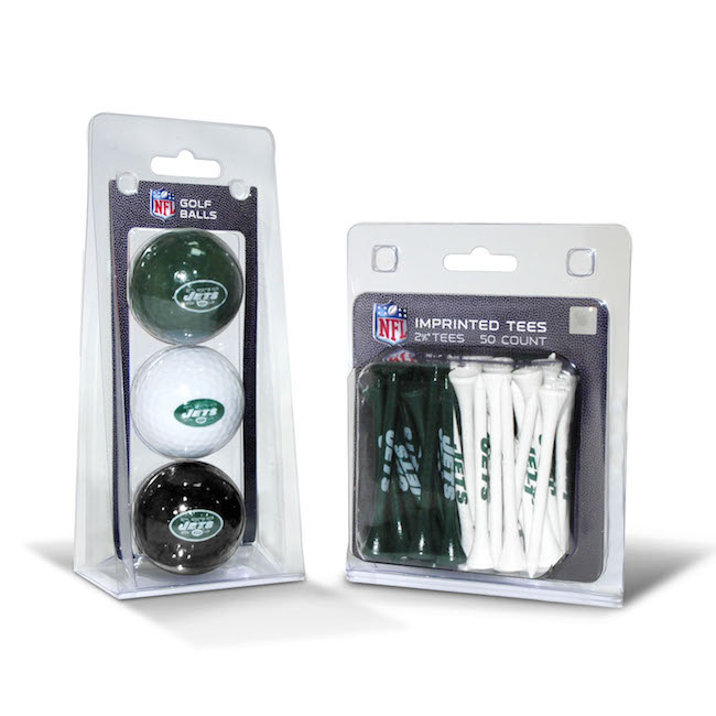 New York Jets 3 Ball Pack and 50 Tee Pack