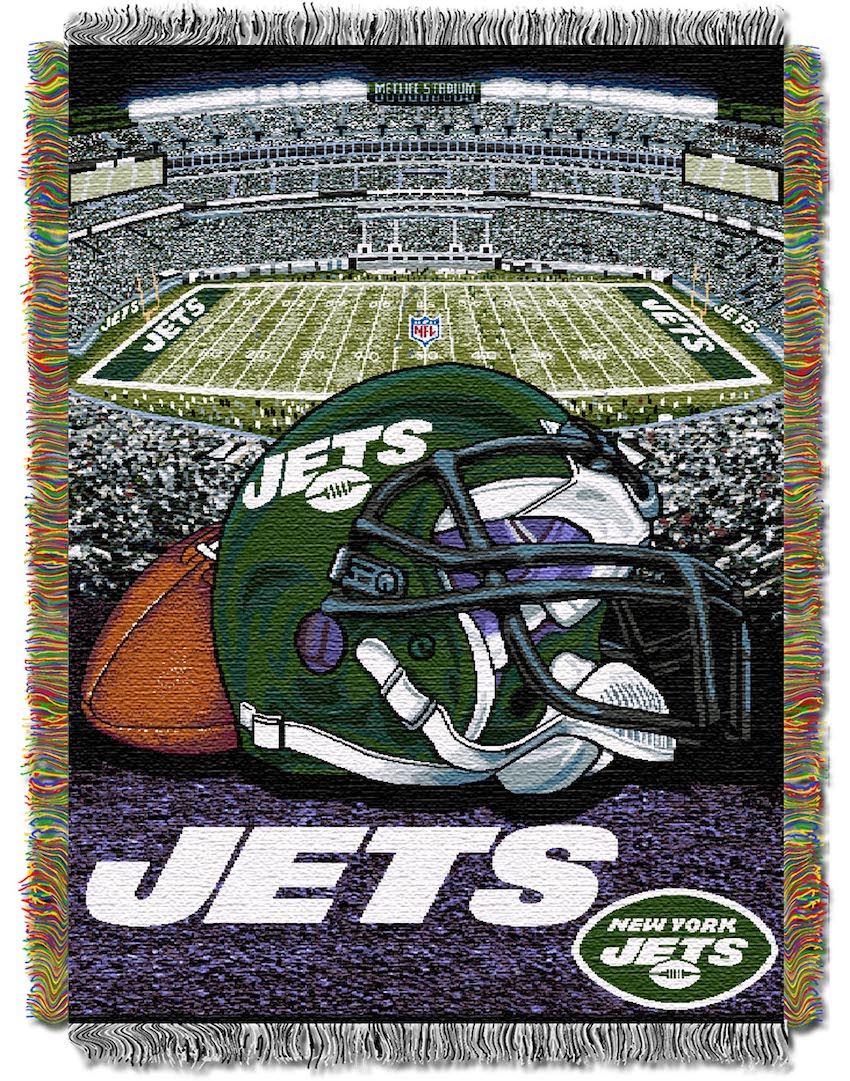 New York Jets Home Field Advantage Series Tapestry Blanket 48 x 60