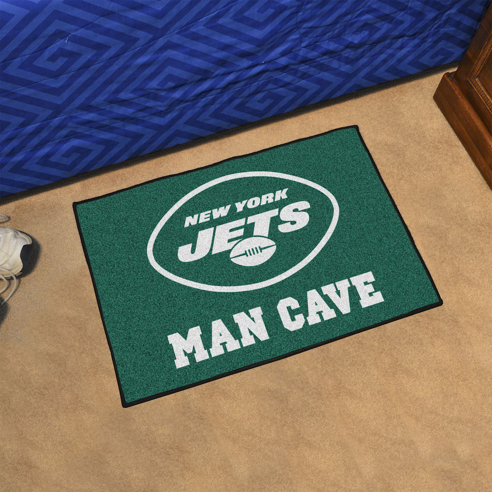 New York Jets MAN CAVE 20 x 30 STARTER Floor Mat