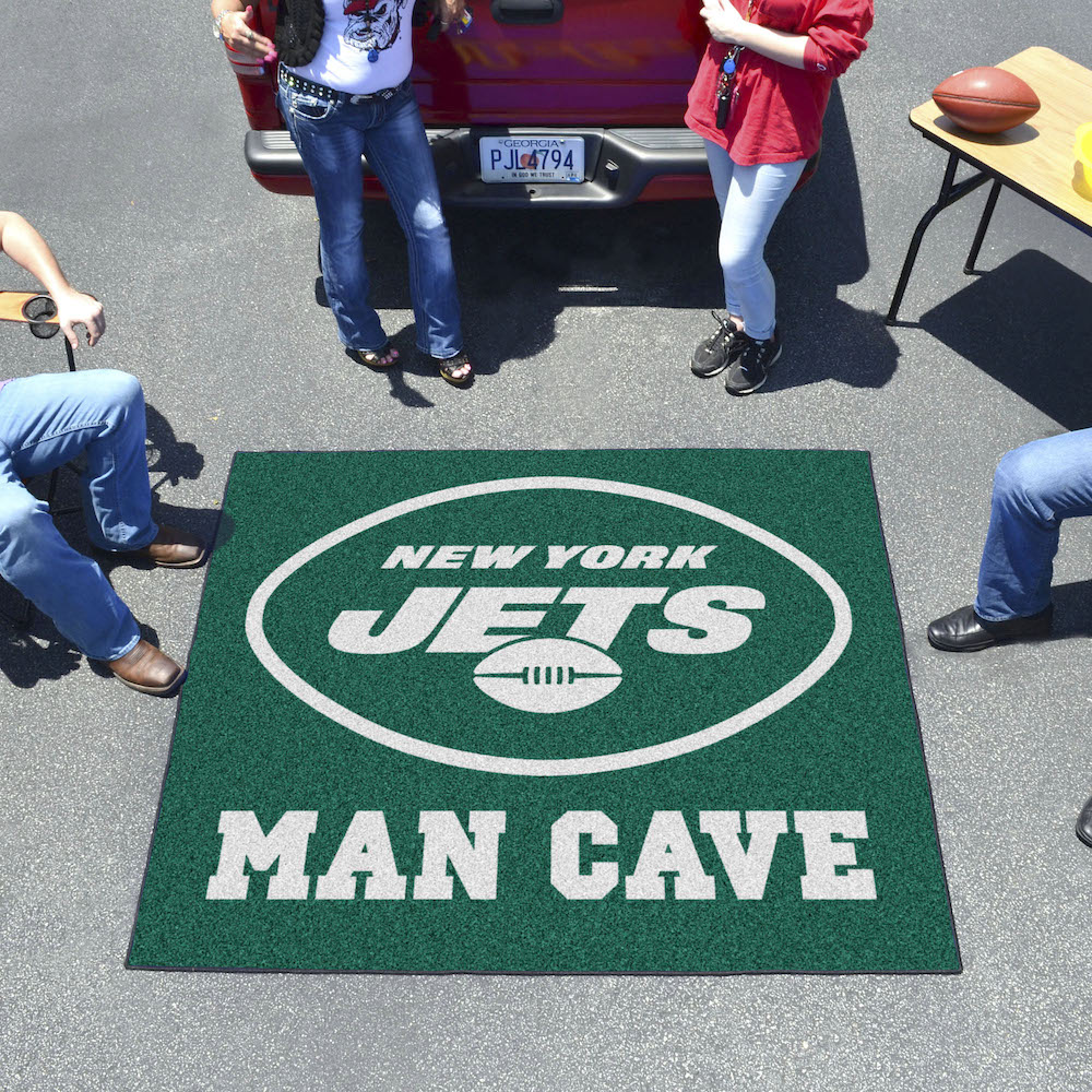 New York Jets MAN CAVE TAILGATER 60 x 72 Rug