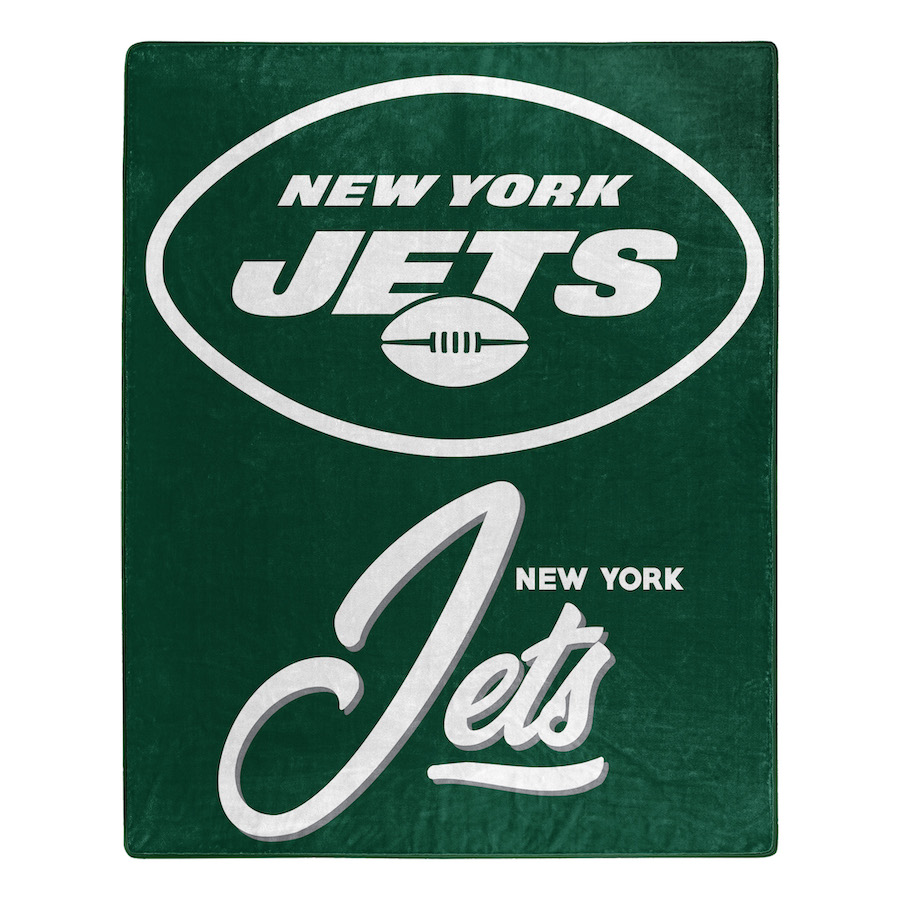 New York Jets Plush Fleece Raschel Blanket 50 x 60