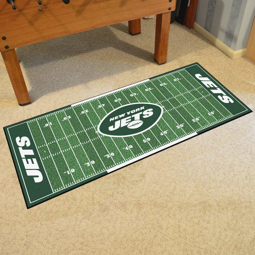 New York Jets 30 x 72 Football Field Carpet Runner