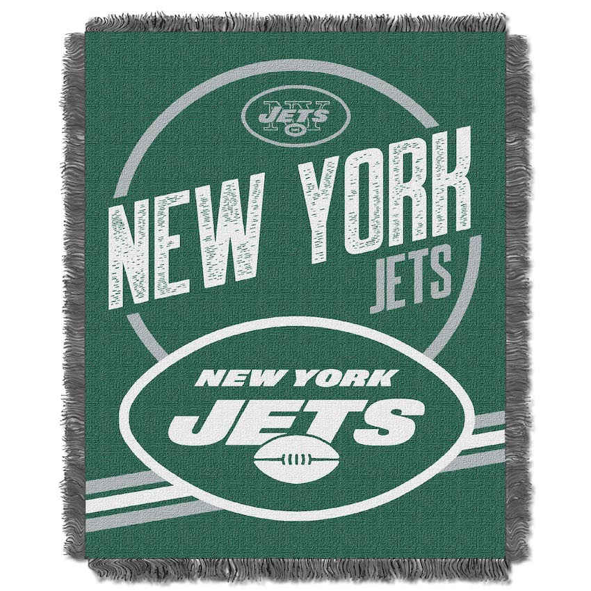 New York Jets Double Play Tapestry Blanket 48 x 60