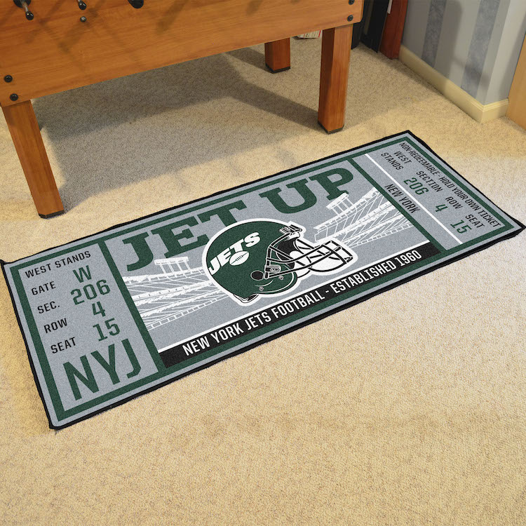 New York Jets 30 x 72 Game Ticket Carpet Runner