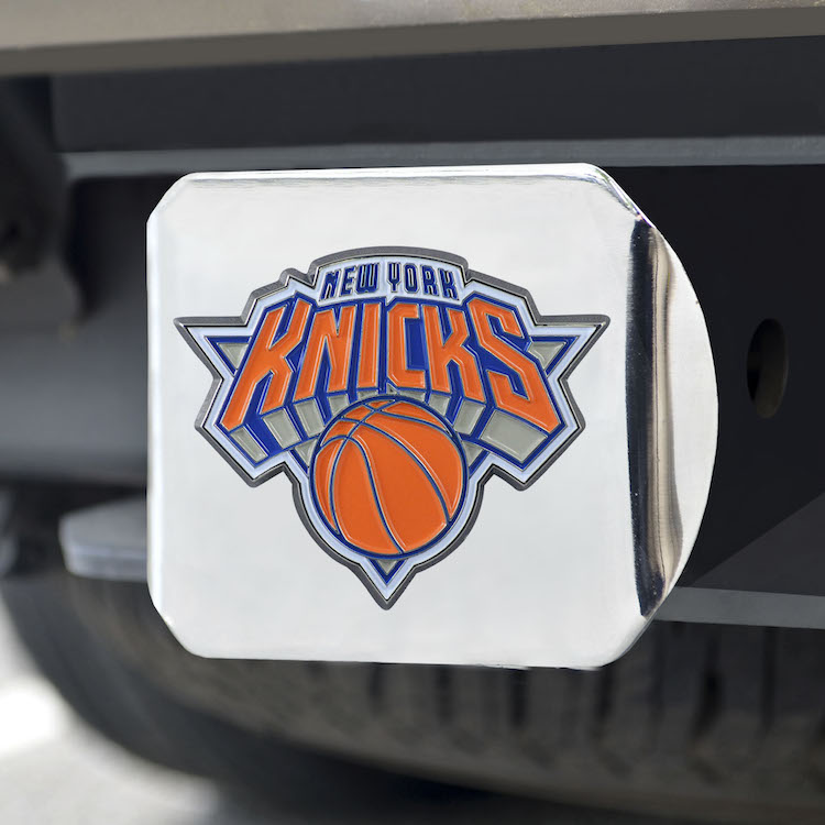 New York Knicks Color Chrome Trailer Hitch Cover
