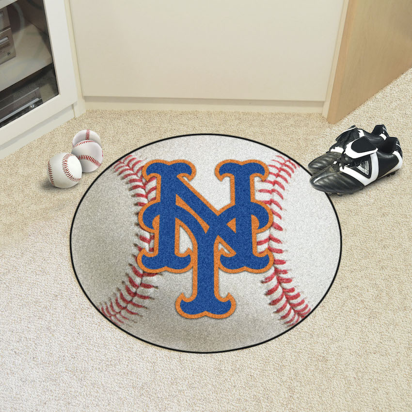 New York Mets Round Baseball Mat