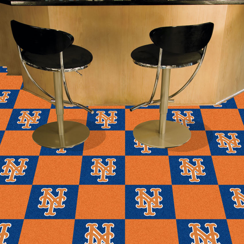 New York Mets Carpet Tiles 18x18 in.