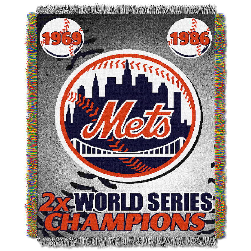 New York Mets Commemorative World Series Tapestry Throw