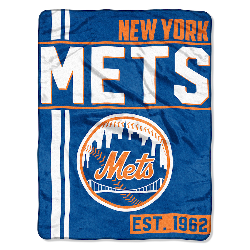 New York Mets Micro Raschel 50 x 60 Team Blanket