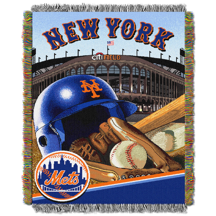 New York Mets Home Field Advantage Series Tapestry Blanket 48 x 60