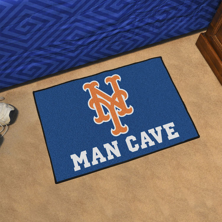 New York Mets MAN CAVE 20 x 30 STARTER Floor Mat
